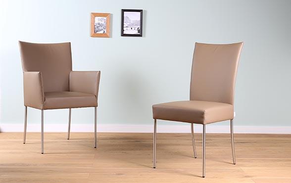 esszimmerst hle belle arc l sitzvergn gen in leder. Black Bedroom Furniture Sets. Home Design Ideas