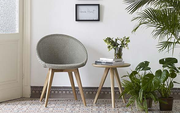 esszimmerst hle joe oak loom mit eichengestell. Black Bedroom Furniture Sets. Home Design Ideas